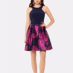 X by XSCAPE Halter-Neck Fit & Flare Dress 6